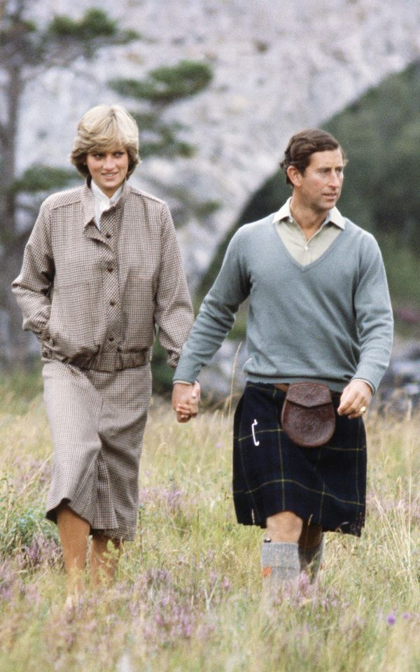 Eighties fashion: Princess Diana and Prince Charles during the eighties