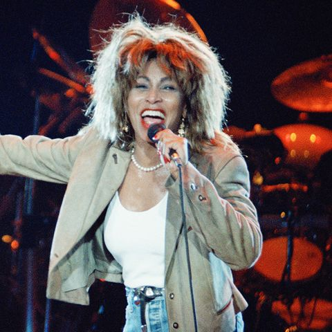 Tina Turner in those ultimate eighties fashion trouser--the high-waisted jean