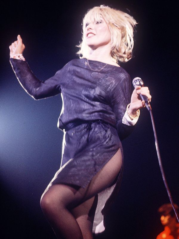Debbie Harry wearing tights in the '80s