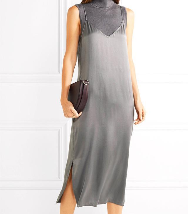 Equipment Anika Silk-Satin Midi Dress