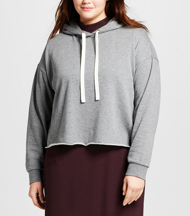 Who What Wear Plus Size Deconstructed Hoodie
