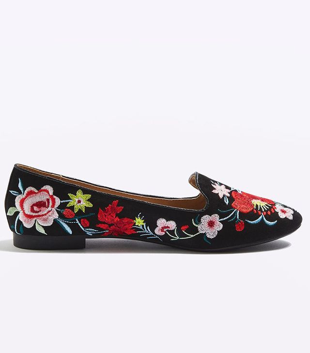 Topshop Saffron Embroidered Slippers