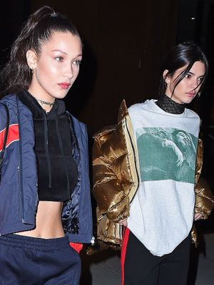 How Kendall Jenner and Bella Hadid Match Outfits for a Night Out