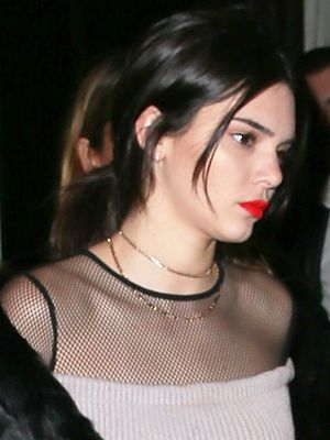 Kendall Jenner Wore a Sheer Top and Skinnies Combo Out in Paris