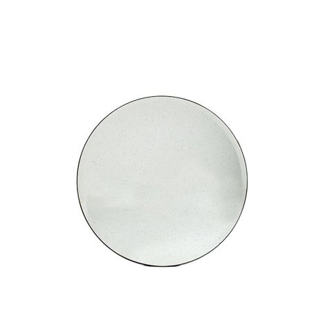 Oversized Round Foxed Mirror
