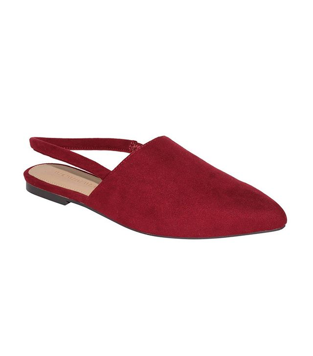 Who What Wear Kat Microsuede Slingback Flats