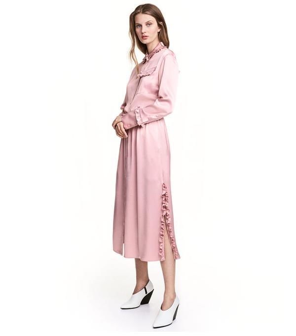H&M Shirt Dress with Ruffles