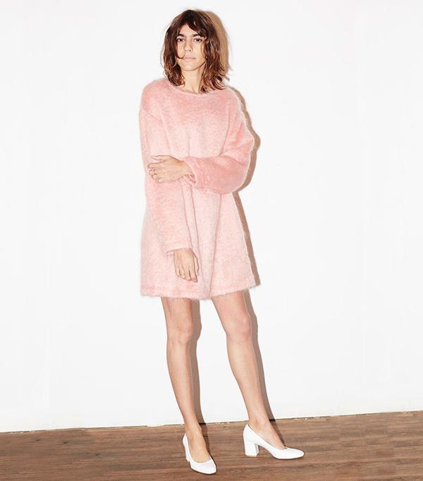 Datura Candy Rose Mohair Cosy Jumper Dress