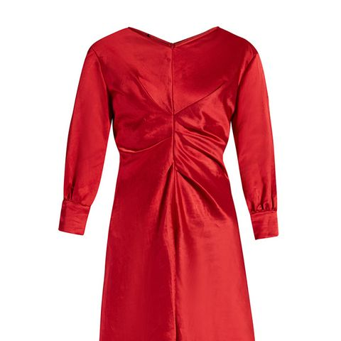 Rad V-Neck Satin Dress