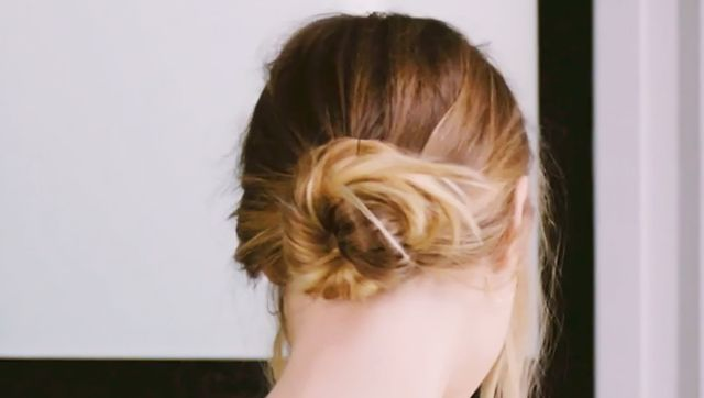 Watch: How to Create a Cool-Girl Undone Chignon in Less Than One Minute