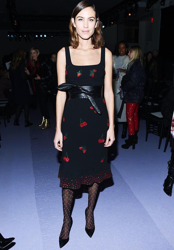 New York Fashion Week February 2017 Front Row: Alexa Chung