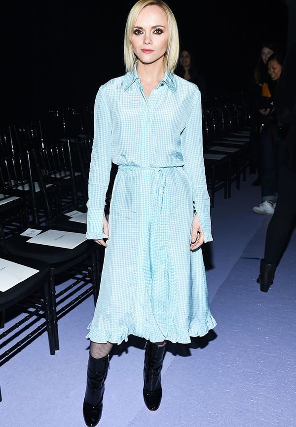 New York Fashion Week February 2017 Front Row: Christina Ricci