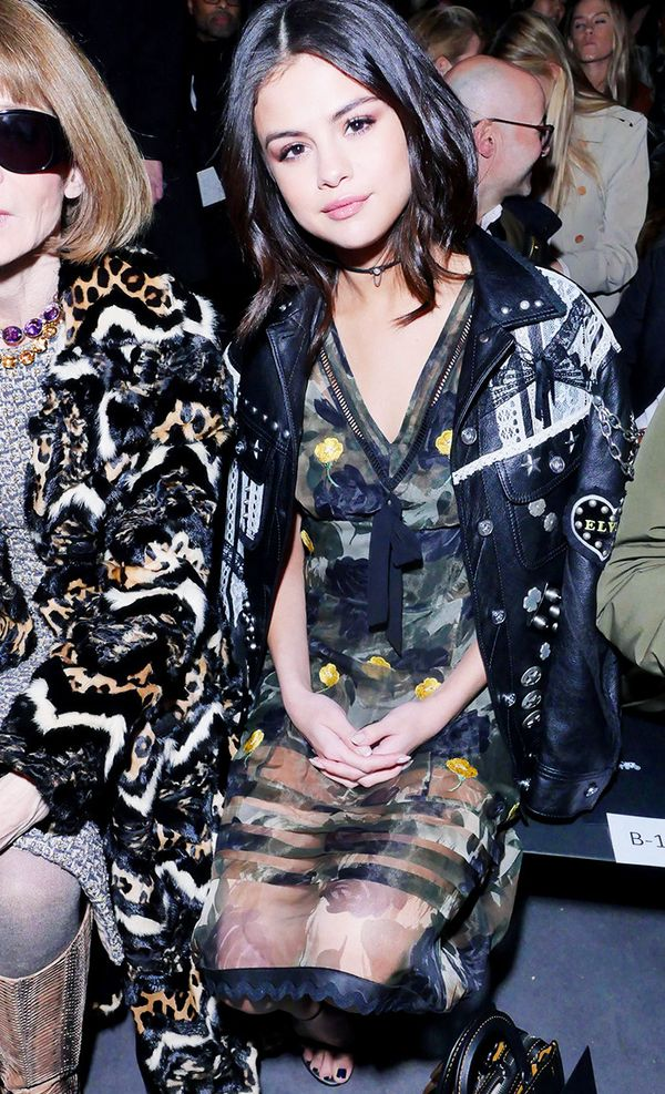 New York Fashion Week February 2017 Front Row: Selena Gomez