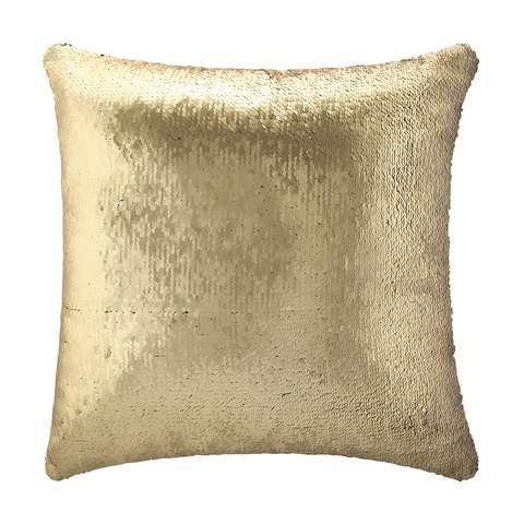 Sequin Cushion - Gold