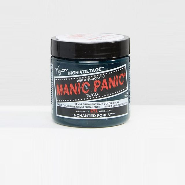 Green hair trend: Manic Panic NY Hair Dye Enchanted Forest