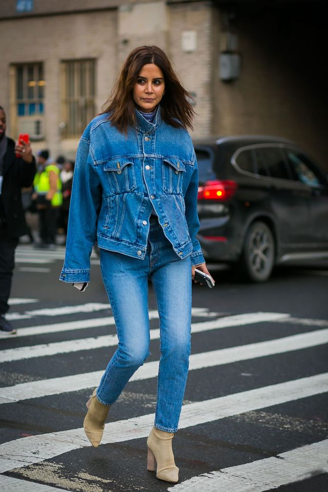 Christine Centenera double denim outfit