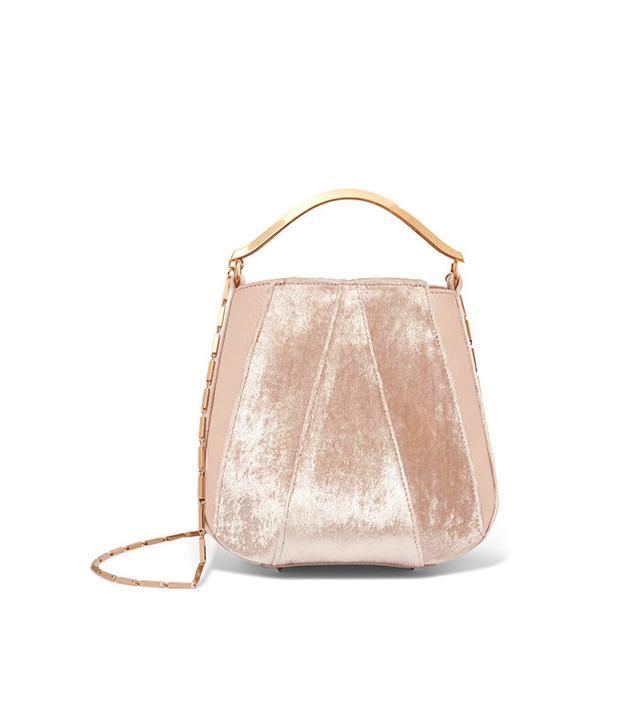 Eddie Borgo Pepper leather and velvet shoulder bag