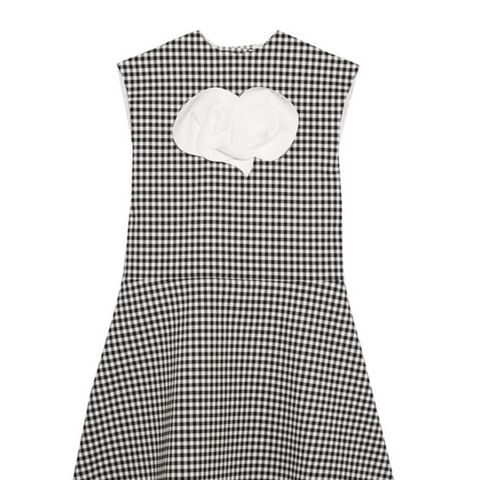 Jellychess Fluted Gingham Woven Top