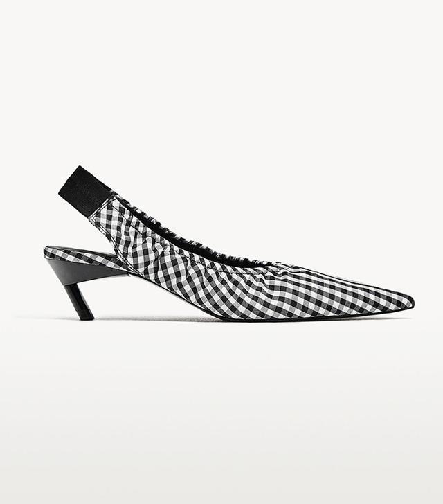 Zara Stretch Slingback Heeled Shoes