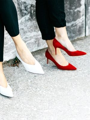 The Truth About Wearing Chunky Heels for Less Foot Pain