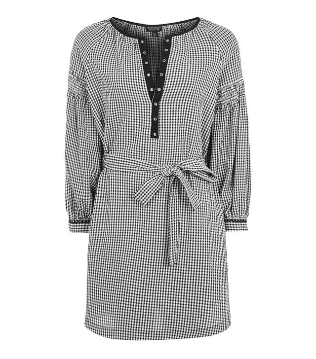 Topshop gingham smock dress