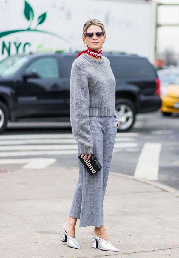 Minimalist fashion: Helena Bordon in grey