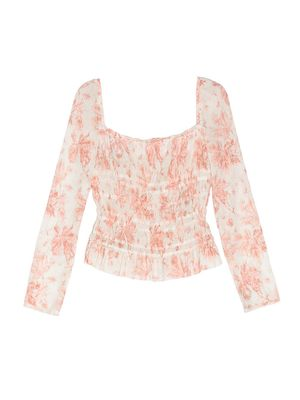 We're Obsessed With This Floral-Print Top