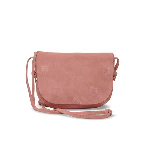 Dusty Rose Suede Embroidered Venice Crossbody