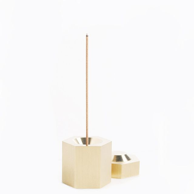 Page Thirty Three Brass Hexagon Incense Burner