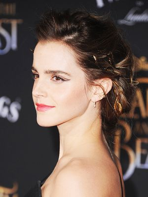 Emma Watson Wore a Rose-Scented Hairstyle to the Beauty and the Beast Premiere