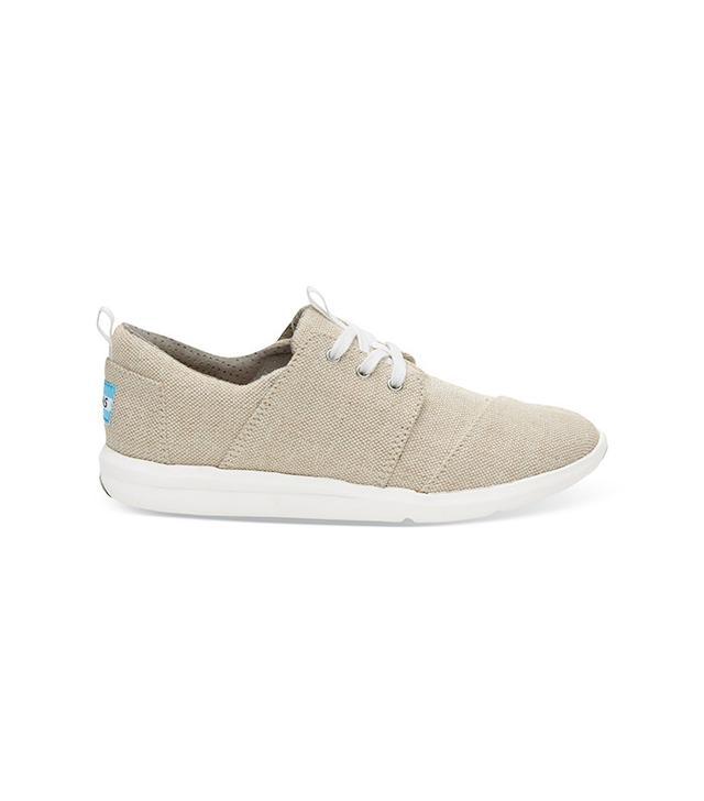 Toms-Natural-Metallic-Linen-Womens-Del-Rey-Sneaker