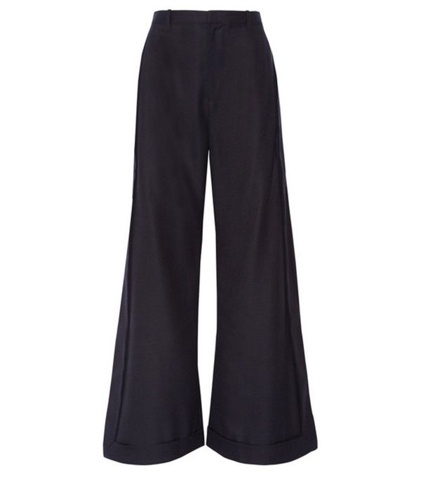 Jeanne Damas Style: Jacquemus Wool Wide-Leg Pants
