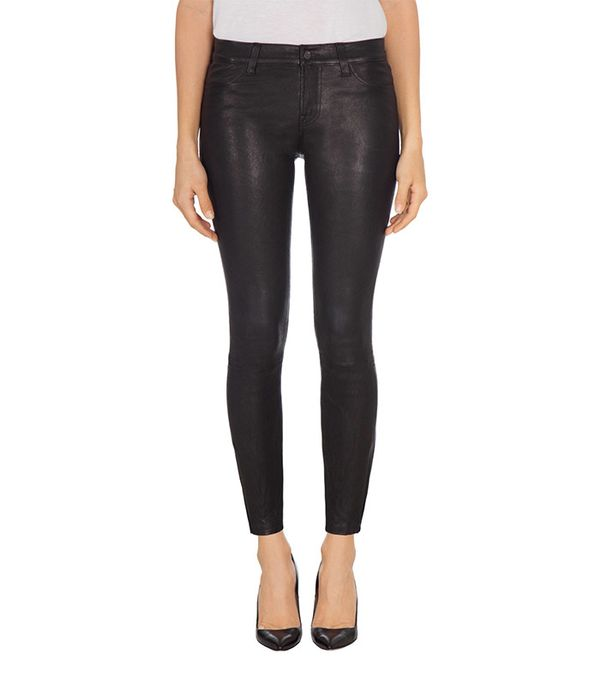 J Brand L8001 Mid-Rise Stretch Leather Jeans