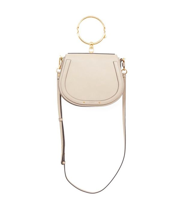 Medium Nile Leather & Suede Saddle Bag Medium Nile Leather & Suede Saddle Bag