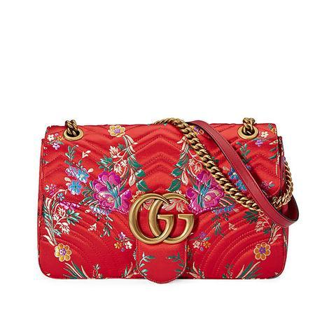 GG Marmont Medium Jacquard Shoulder Bag