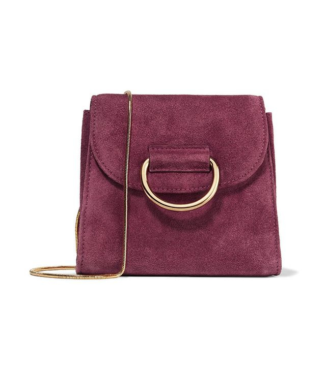 Little Liffner Tiny Box Suede Bag