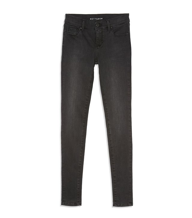 Mott & Bow High Rise Skinny Jeans in Orchard
