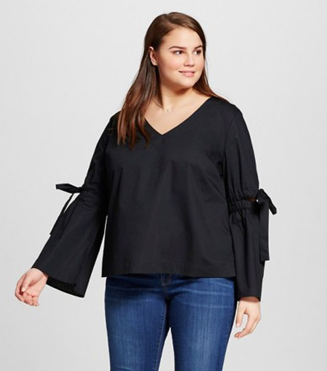 Who What Wear Bell-Sleeve Top