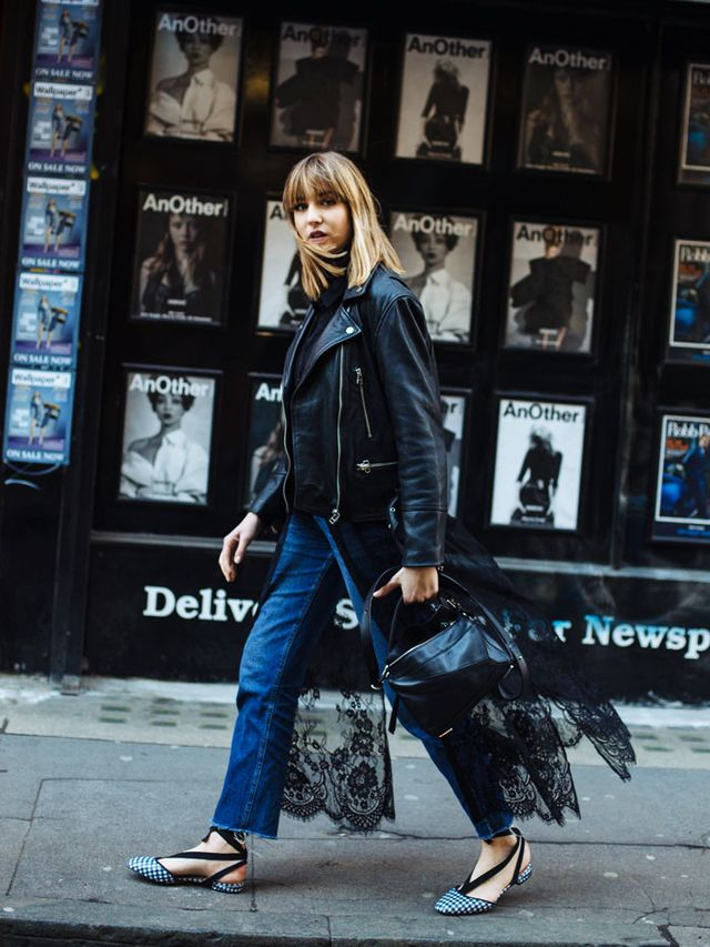 Manchester style: Lizzie Hadfield in biker and jeans