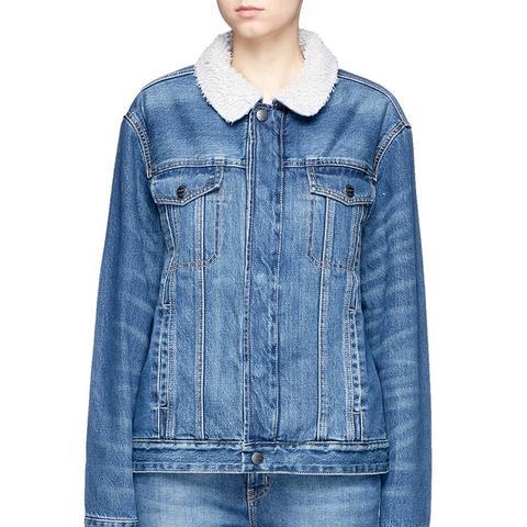 The Zip Hendrix Faux Shearling Denim Jacket