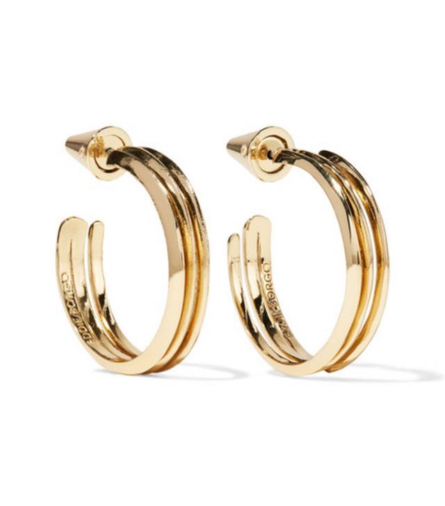 Eddie Borgo gold hoop earrings