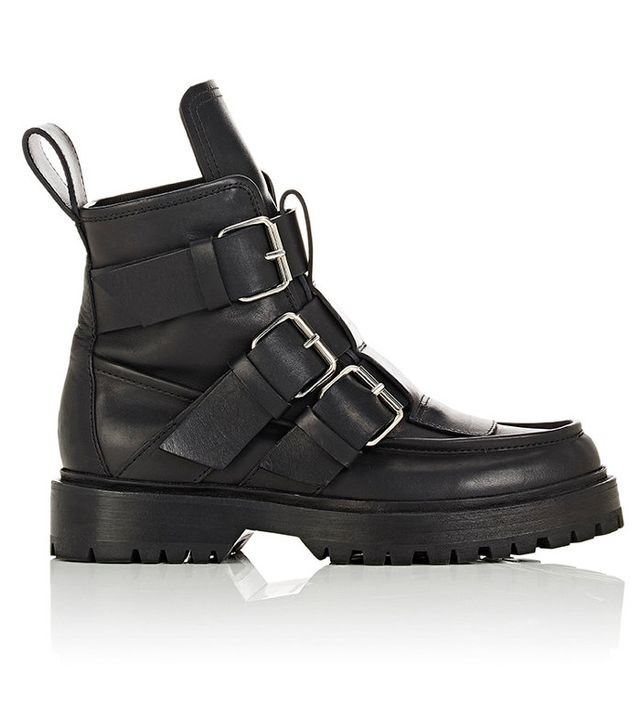 Paco Rabanne Buckle-Strap Trek Ankle Boots