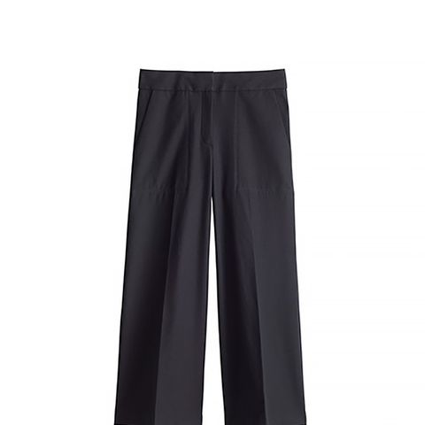 The Wide Leg Pant in Knit Crepe