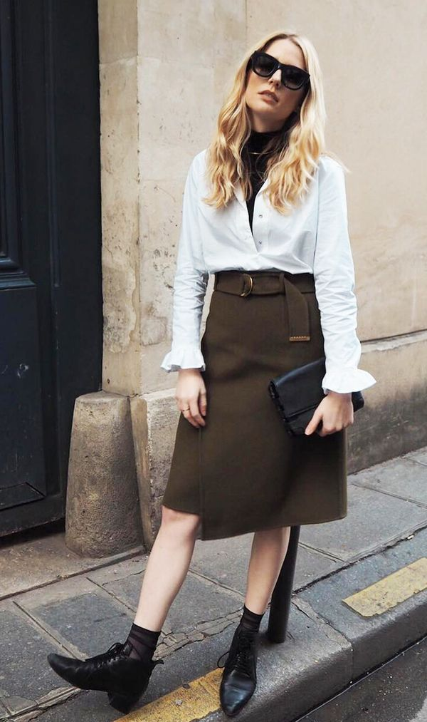 the best way to wear a wrap skirt