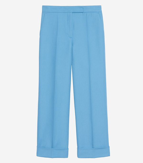 Sandro Wide Leg Tailored Trousers