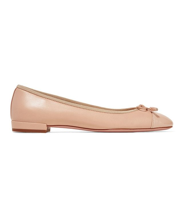 Prada Matte and Patent-Leather Ballet Flats