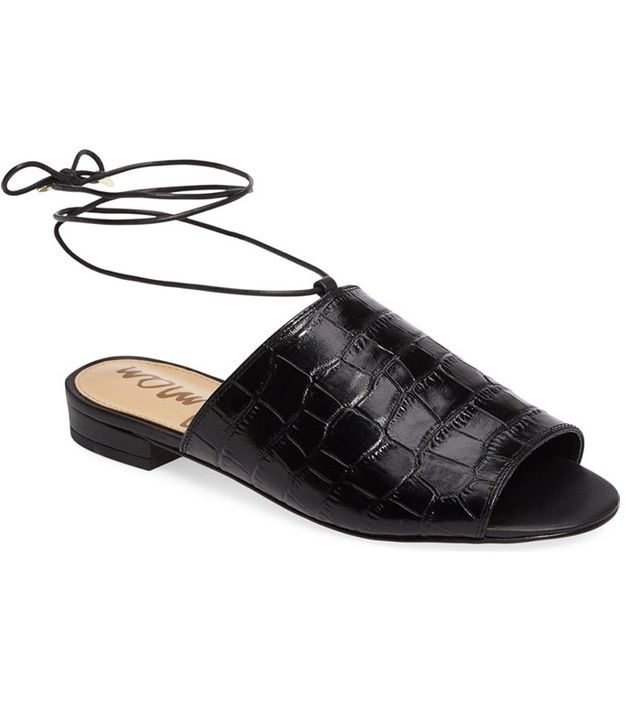 expensive-looking black sandals