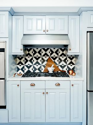 You Haven't Seen a Tiled Kitchen Backsplash Like This Before