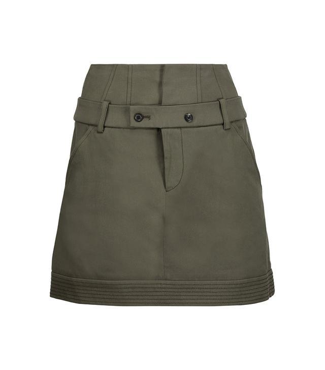 best green miniskirt