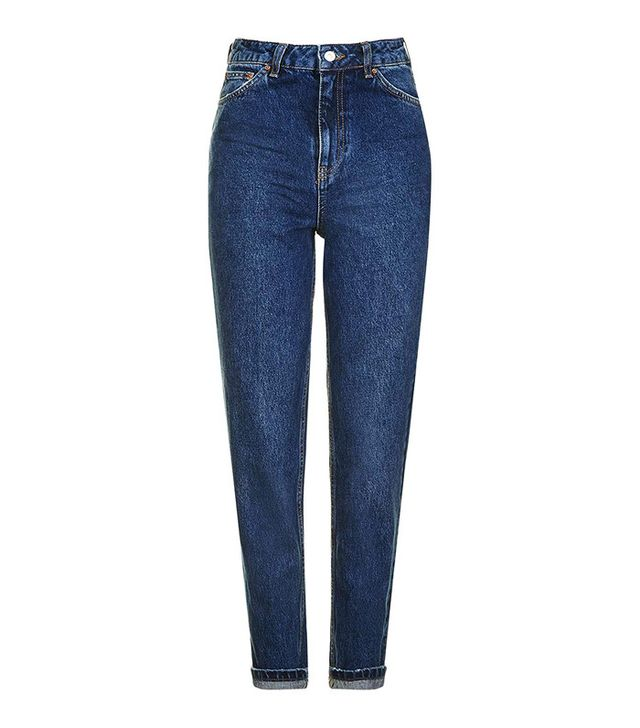 Topshop MOTO Dark Blue Mom Jeans